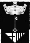 Escut oficial de Sant Pere de Vilamajor (B/N)